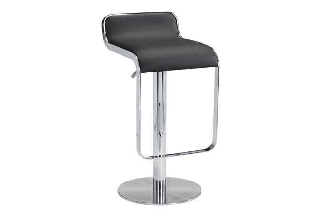 Equinox Black 31 Inch Adjustable Barstool - 360