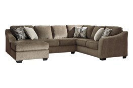 "Graftin Teak 3 Piece 130"" Sectional With Left Arm Facing Chaise"