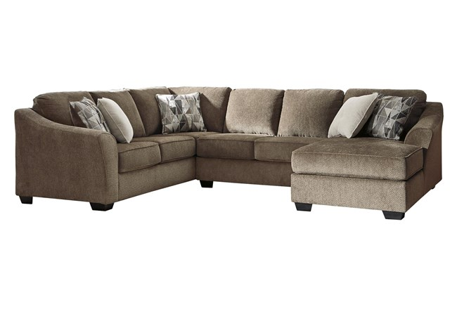Graftin Teak 3 Piece Sectional With Right Arm Facing Chaise - 360