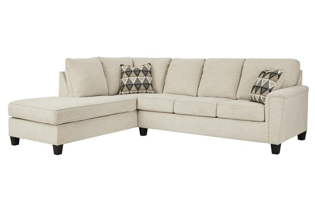 """Abinger Natural 2 Piece 116"""" Sectional With Left Arm Facing Chaise - 360"""