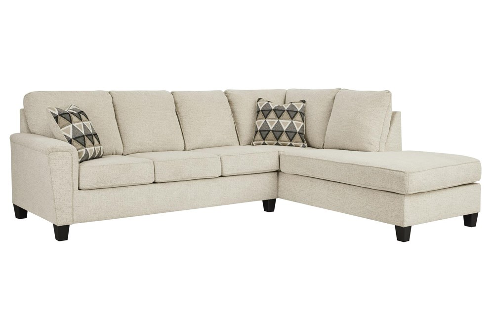 Abinger Natural 2 Piece Sectional With Right Arm Facing Chaise