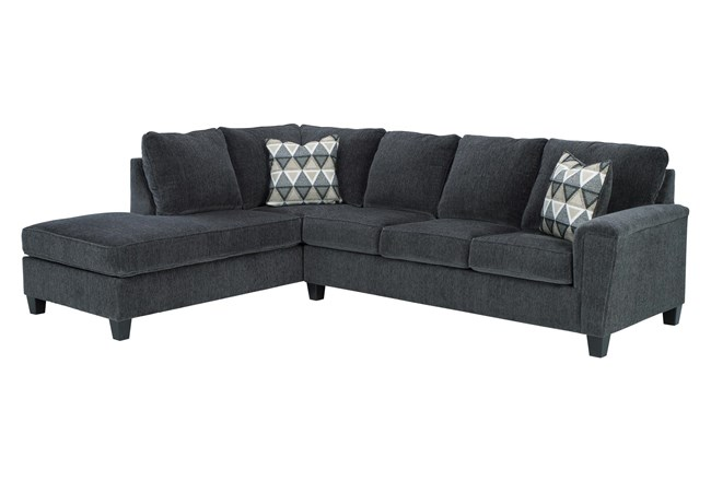 """Abinger Smoke 2 Piece 116"""" Sectional With Left Arm Facing Chaise - 360"""