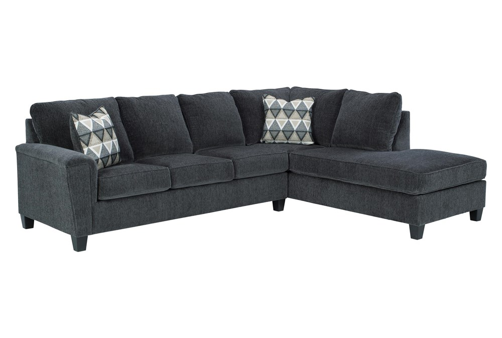 "Abinger Smoke 2 Piece 116"" Sectional With Right Arm Facing Chaise"
