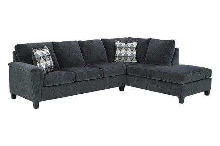 Abinger Smoke 2 Piece Sectional With Right Arm Facing Chaise - Main