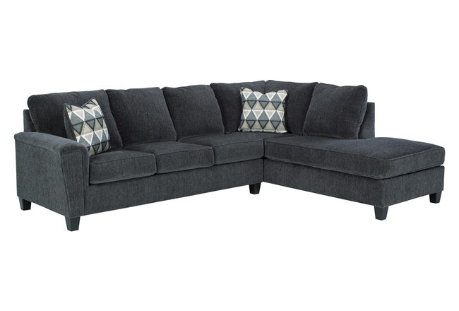 "Abinger Smoke 2 Piece 116"" Sectional With Right Arm Facing Chaise - 360"