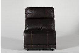 Titus Brown Leather Power Armless Recliner