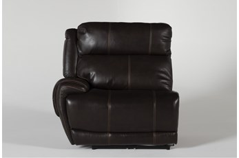 Titus Brown Leather Laf Power Recliner w/ Pwr Headrest & USB