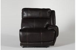 Titus Brown Leather Raf Power Recliner w/ Pwr Headrest & USB