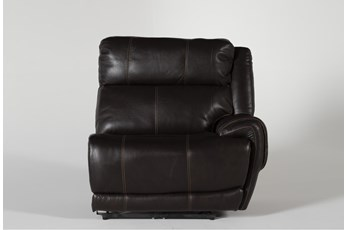 Titus Brown Leather Raf Power Recliner w/ Pwr Headrest & USB