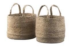 Natural Jute Basket 2 Pc Set