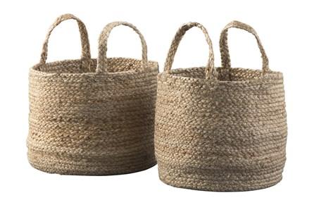 Natural Jute Basket 2 Pc Set - Main