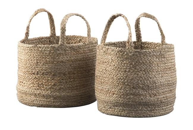 Natural Jute Basket 2 Pc Set - 360