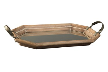 Brown Mearl + Mirror Tray