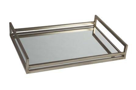 Silver Finish Metal + Mirrored Tray - Main
