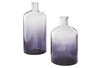 Puprle 2 Pc Vase Set