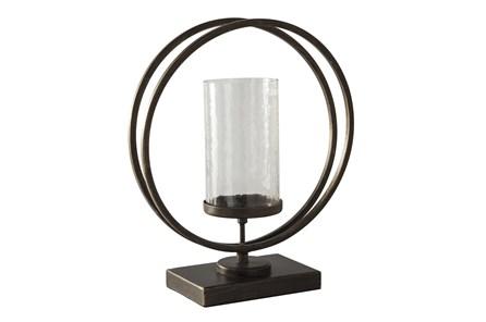 Black Gold Finish Metal + Glass Candleholder - Main