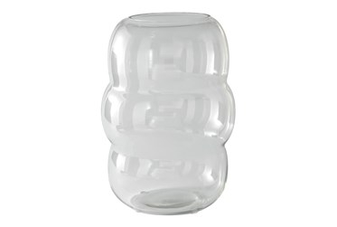 Bubbled Clear Glass Candle Holder