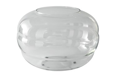 Bubbled Clear Glass Vase