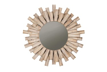 Wood Sunburst Accent Mirror