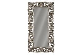 Antique Silver Filigree Floor Mirror