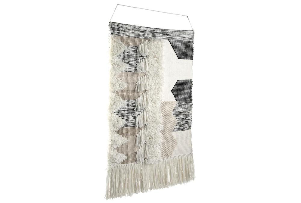 Black + Natural Tasseled Wall Hanging Tapestry