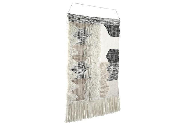 Black + Natural Tasseled Wall Hanging Tapestry - 360