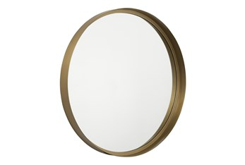Round Gold Finish Accent Mirror