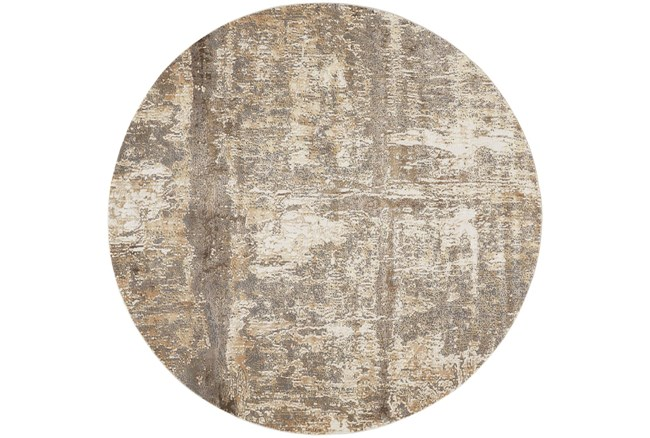 "7'8"" Round Rug-Frida Abstract Ivory - 360"