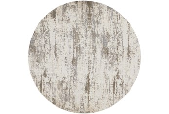 """7'8"""" Round Rug-Frida Abstract Silver"""