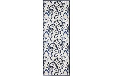 """2'8""""x7'8"""" Rug-Meera Floral Ivory"""