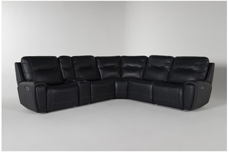 Ciro Navy 6 Piece Power Reclining Sectional With Power Headrest And Usb - Main