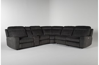"Argentia 6 Piece 150"" Power Reclining Sectional With Power Headrest And Usb"