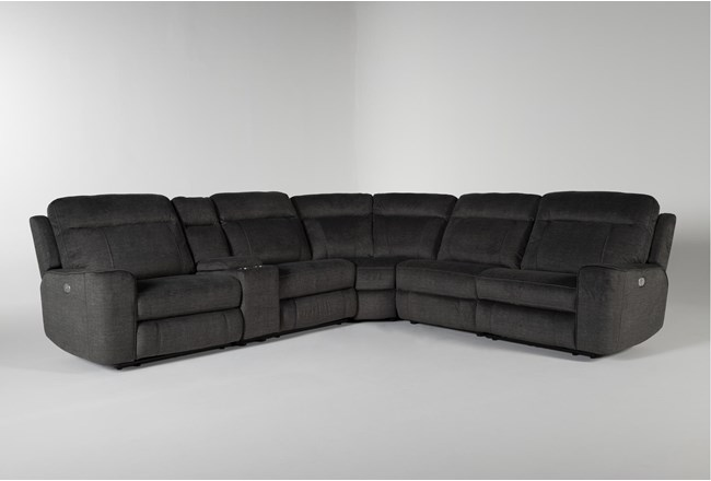 Argentia 6 Piece Power Reclining Sectional With Power Headrest And Usb - 360
