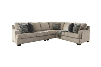 Bovarian Stone 3 Piece Sectional With Left Arm Facing Loveseat