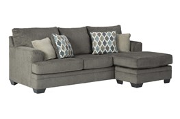 "Dorsten Slate 92"" Sofa With Reversible Chaise"