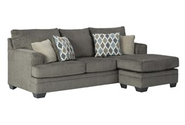 "Dorsten Slate 92"" Sofa With Reversible Chaise"