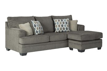 Dorsten Slate Sofa With Reversible Chaise