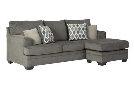 Dorsten Slate Sofa With Reversible Chaise - Main