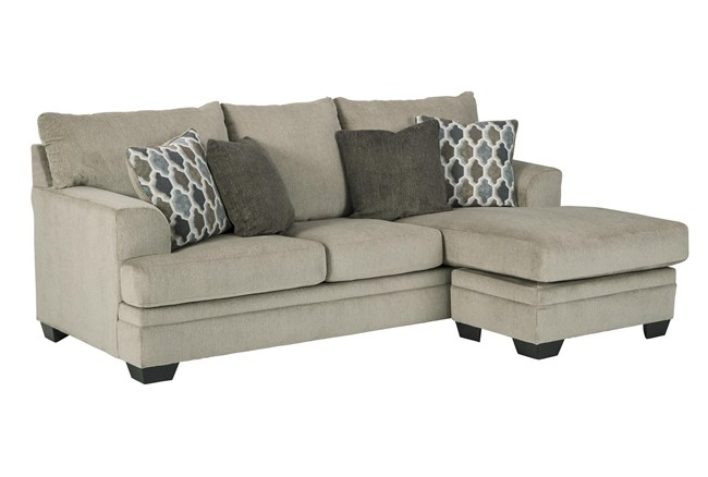 "Dorsten Sisal 92"" Sofa With Reversible Chaise - 360"