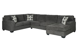 "Ballinasloe Smoke 3 Piece 141"" Sectional With Right Arm Facing Chaise"