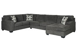 """Ballinasloe Smoke 3 Piece 141"""" Sectional With Right Arm Facing Chaise"""
