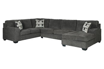 Ballinasloe Smoke 3 Piece Sectional With Right Arm Facing Chaise