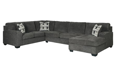Ballinasloe Smoke 3 Piece Sectional With Right Arm Facing Chaise - Main