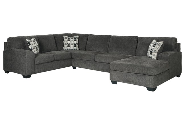 Ballinasloe Smoke 3 Piece Sectional With Right Arm Facing Chaise - 360