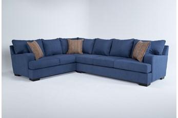 Kit-Hugo Indigo 2 Piece Sectional With Right Arm Facing Sofa