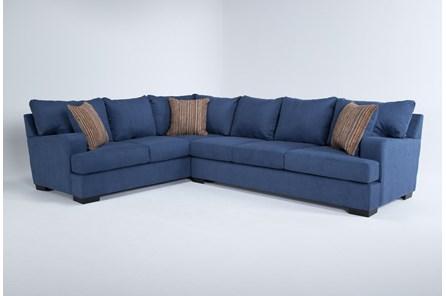 Kit-Hugo Indigo 2 Piece Sectional With Right Arm Facing Sofa - Main