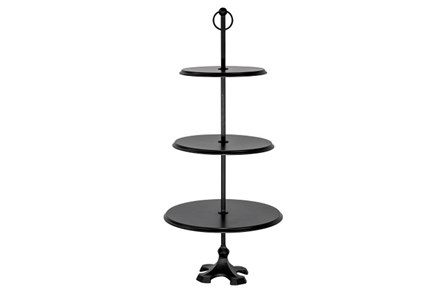 Magnolia Home Edith 3-Tier Round Pedestal - Chimney By Joanna Gaines - Main