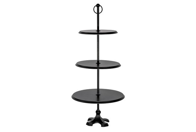 Magnolia Home Edith 3-Tier Round Pedestal - Chimney By Joanna Gaines - 360
