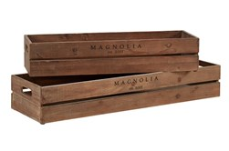 Magnolia Home Harvest Crate Troughs S/2,Stai By Joanna Gaines