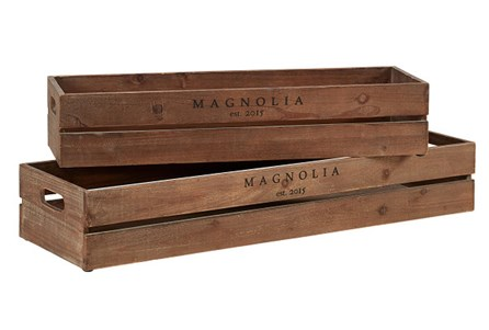 Magnolia Home Harvest Crate Troughs S/2,Stai By Joanna Gaines - Main